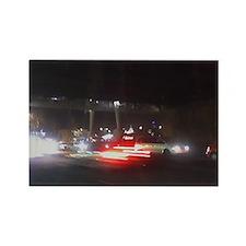 Fast Car Lights Rectangle Magnet