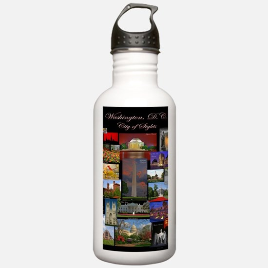 DC Collage Updated Water Bottle