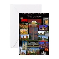 DC Collage Updated Greeting Card
