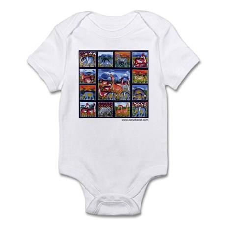 Many animals (Wanyama Wengi) Infant Bodysuit
