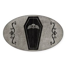 coffin_gray_11x18h Decal