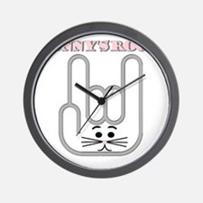 Bunnys Rock Wall Clock