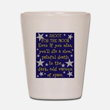 Shoot for the Moon & Die Shot Glass