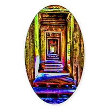 door to door colorful Decal