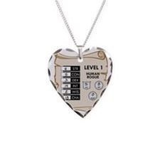 BabyStatBib Necklace Heart Charm