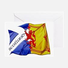 scotland saltire  lion rampant flags Greeting Card