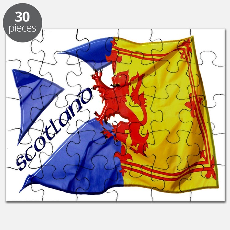 scotland saltire  lion rampant flags Puzzle