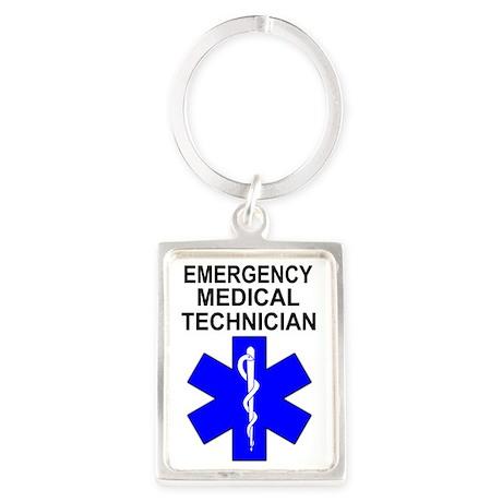 EMT Shirt Portrait Keychain
