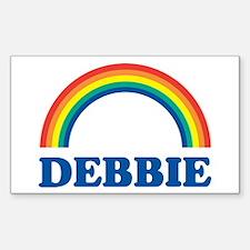 DEBBIE (rainbow) Rectangle Decal