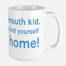 Floating home - Han Quotes - blue Mug