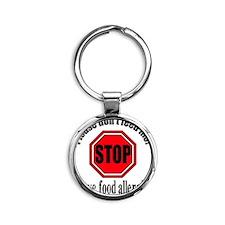 Food Allergies 1 Round Keychain