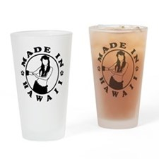 made in hawaii black Drinking Glass