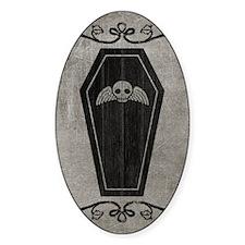 coffin_gray_13-5x18v Decal