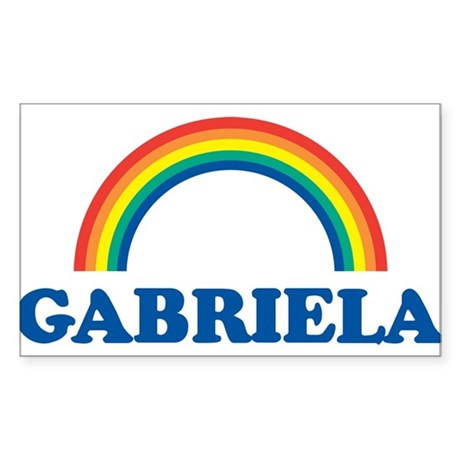 GABRIELA (rainbow) Rectangle Sticker