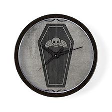 coffin_gray_13-5x18v Wall Clock