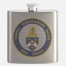 NAVAL SUBMARINE BASE San Diego CA Military P Flask