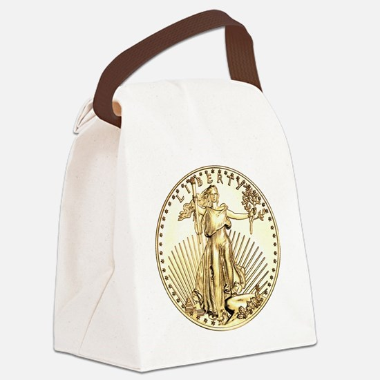Liberty-goldcoin Canvas Lunch Bag