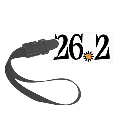 26.2 with flower Small Luggage Tag