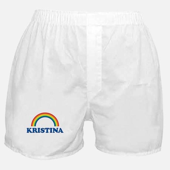 KRISTINA (rainbow) Boxer Shorts