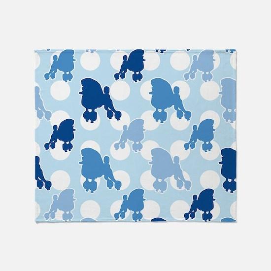 poodle_pattern_blue Throw Blanket