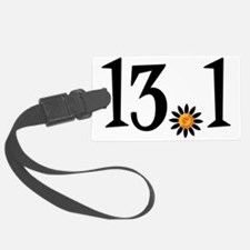 13.1 with orange flower Luggage Tag