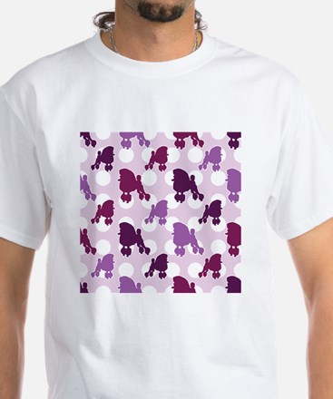 poodle_pattern White T-Shirt