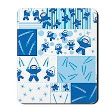 blue_ninja_fabric Mousepad