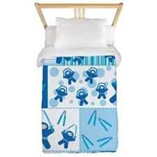 blue_ninja_fabric Twin Duvet