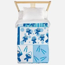 blue_ninja_fabric Twin Duvet
