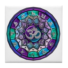 UROCK Independence Mandala Tile Coaster