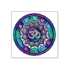 "UROCK Independence Mandala Square Sticker 3"" x 3"""