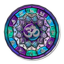 UROCK Independence Mandala Round Car Magnet