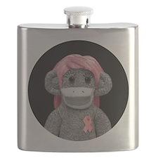 emma jones soda (round logo) Flask