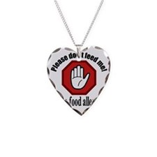Food Allergies 2 Necklace Heart Charm