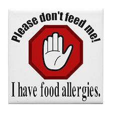 Food Allergies 2 Tile Coaster
