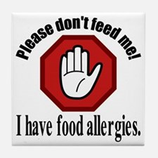 Food Allergies 2 Tile Coaster