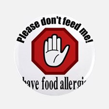 "Food Allergies 2 3.5"" Button"