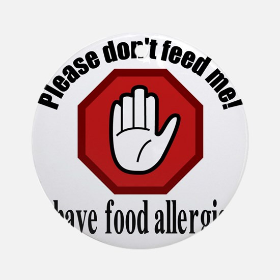 Food Allergies 2 Round Ornament