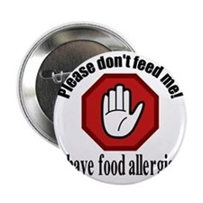 "Food Allergies 2 2.25"" Button"