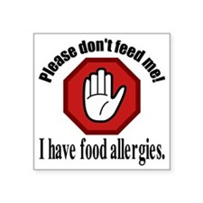 "Food Allergies 2 Square Sticker 3"" x 3"""