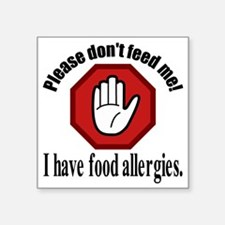 "Food Allergies 2 Square Sticker 3"" x 3"""