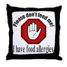 Food Allergies 2 Throw Pillow