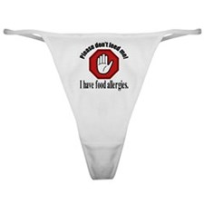 Food Allergies 2 Classic Thong