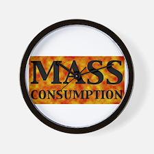 mass_black Wall Clock