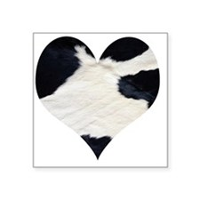 "cow heart Square Sticker 3"" x 3"""