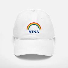 NINA (rainbow) Baseball Baseball Cap