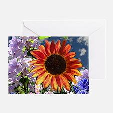 dark sunflower _friends copy Greeting Card