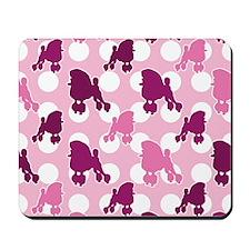 poodle_pattern_pink Mousepad