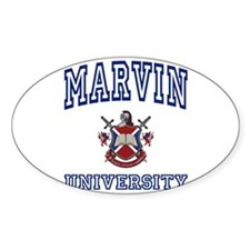 MARVIN University Oval Decal