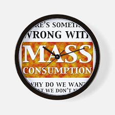 mass_white Wall Clock